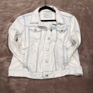 Loft Women's Bleached Denim Jean Jacket Size Large